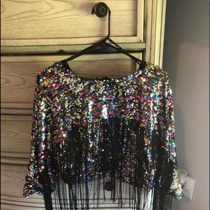Missguided Sequin jacket